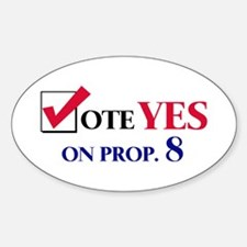 Vote YES on Prop 8 Oval Decal