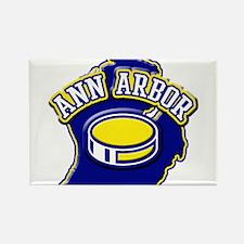 Ann Arbor Hockey Rectangle Magnet