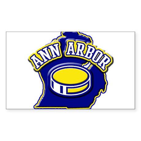 Ann Arbor Hockey Rectangle Sticker