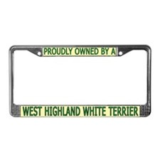 Proudly Owned Westie (2) License Plate Frame