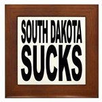 South Dakota Sucks Framed Tile
