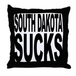 South Dakota Sucks Throw Pillow