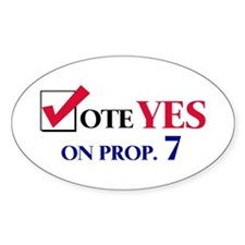 Vote YES on Prop 7 Oval Decal