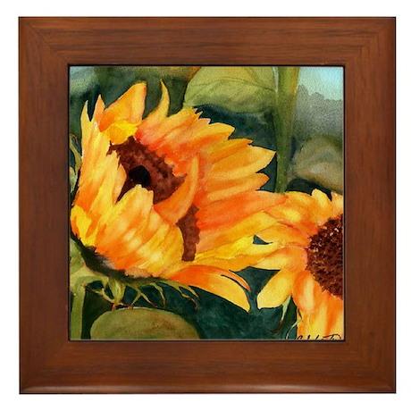 Sunflower II Framed Tile