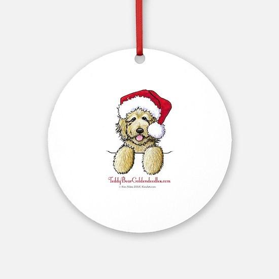 Pocket Santa Fletcher Ornament (Round)