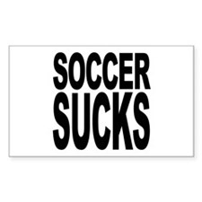 Soccer Sucks Rectangle Decal