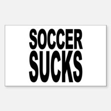 Soccer Sucks Rectangle Decal