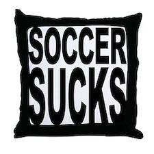 Soccer Sucks Throw Pillow