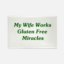 Gluten Free Miracles Rectangle Magnet