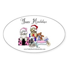 Yappy Howlidays Oval Decal