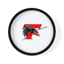 Tree Town Spitfire Helmet Logo Wall Clock