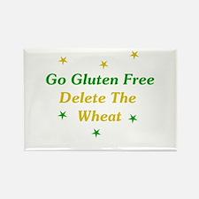 Go Gluten Free: Delete The Wheat Rectangle Magnet