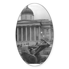 Trafalgar Square, London Oval Decal