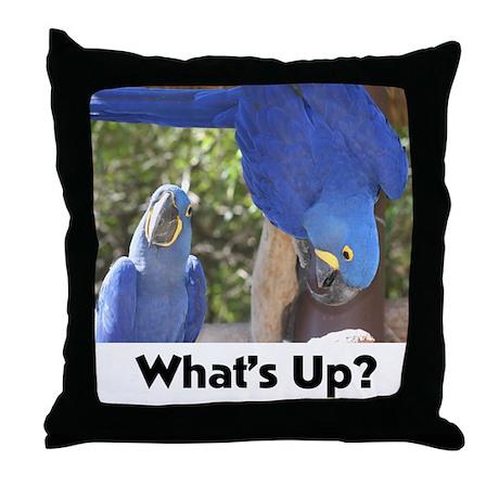 Parrot Pair Throw Pillow