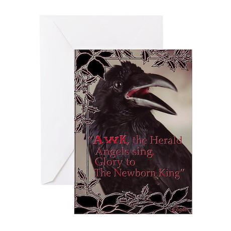 Raven Christmas Cards (Pk of 20)