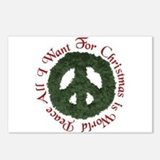 Christmas World Peace Postcards (Package of 8)
