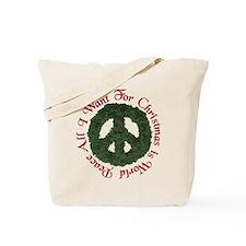 Christmas World Peace Tote Bag