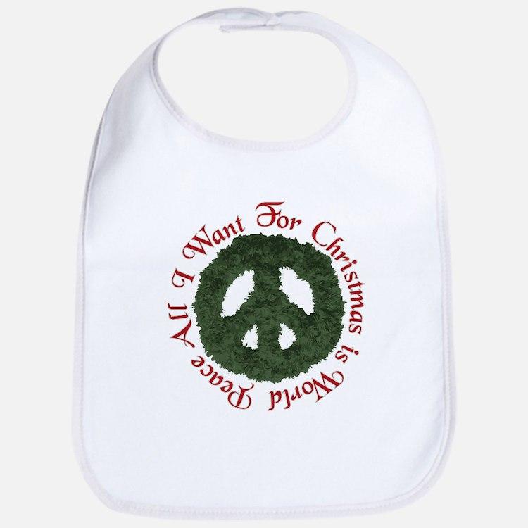 Christmas World Peace Bib