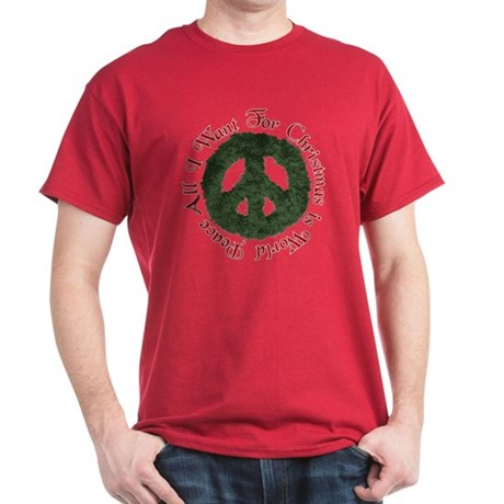 Christmas World Peace Dark T-Shirt