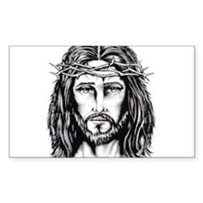 Jesus Crown of Thorns Rectangle Decal