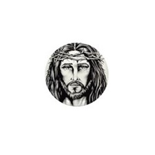 Jesus Crown of Thorns Mini Button
