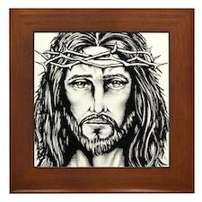 Jesus Crown of Thorns Framed Tile