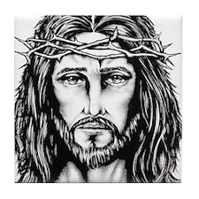 Jesus Crown of Thorns Tile Coaster