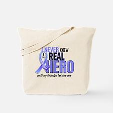 Never Knew A Hero 2 LT BLUE (Grandpa) Tote Bag