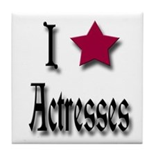 Love Actresses Tile Coaster