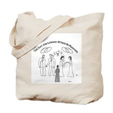 The GLBT Attack on Marriage Tote Bag