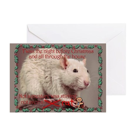 Fancy Rat Christmas Greeting Cards (Pk of 10)