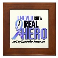 Never Knew A Hero 2 LT BLUE (Grandfather) Framed T