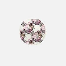 Pretty In Pink Mermaid Mini Button