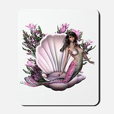 Pretty In Pink Mermaid Mousepad