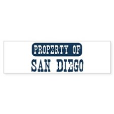 Property of San Diego Bumper Sticker