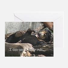 Sun Bear Belly Greeting Card