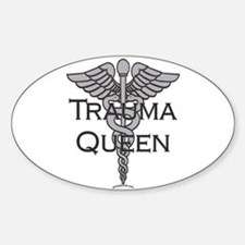 Trauma Queen, ER Nurse Oval Decal