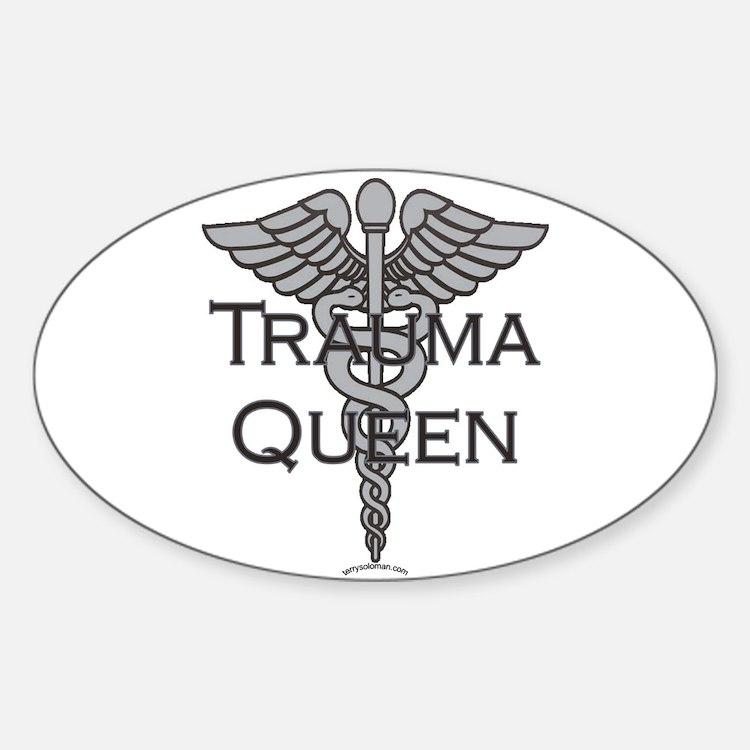 Trauma Queen, ER Nurse Oval Decal
