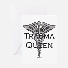 Trauma Queen, ER Nurse Greeting Card