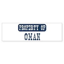 Property of Oman Bumper Bumper Sticker