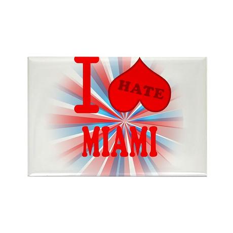I No Heart Miami Rectangle Magnet