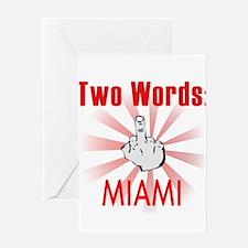 Cute Miami Greeting Card