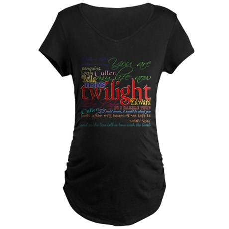 Twilight Quotes Maternity Dark T-Shirt