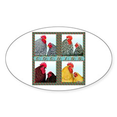 Cochins! Oval Sticker (10 pk)