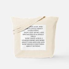 funny geek & professor Tote Bag