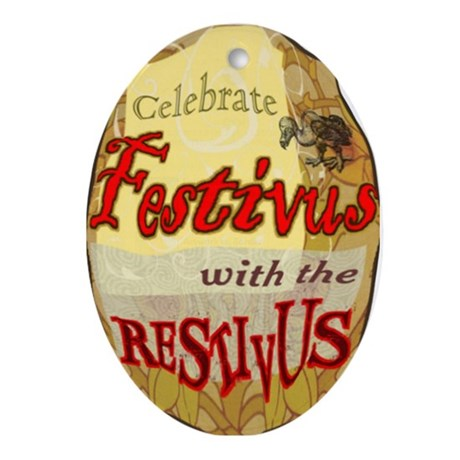 Happy Festivus Oval Ornament