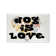Dog is love, neutral. Rectangle Magnet