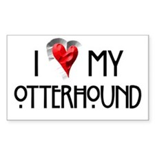 Otterhound Rectangle Decal