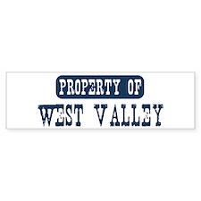 Property of West Valley Bumper Bumper Sticker