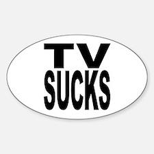 TV Sucks Oval Decal